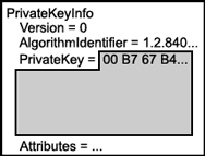 Logical depiction of PrivateKeyInfo
